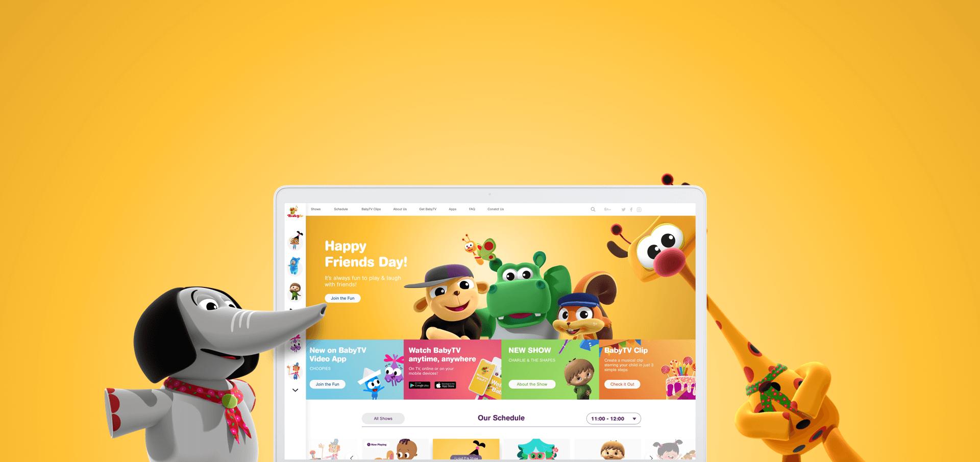 ערוץ BabyTV פיתוח אתר